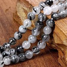 diy necklace wholesale images Wholesale aaa natural black rutilated quartz stone beads for jpg