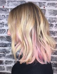pink highlighted hair over 50 peekaboo pink highlights ellerizzles l ro s guide to looking