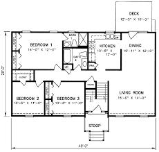 3 level split floor plans 1970s split level house plans split level house plan 26040sd