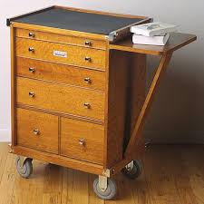 Tool Cabinet Wood Rolling Storage Cabinet Clothes