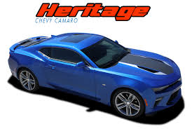 chevy camaro hood stripe graphic decal heritage 50th anniversary