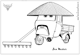 cars 2 coloring pages francesco funycoloring
