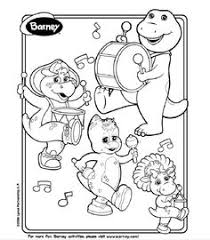 printable barney pictures barney coloring pages free printable