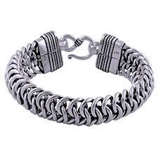 silver bracelet designs images Silver prince 125 gram designer pure 925 silver bracelet for men jpg