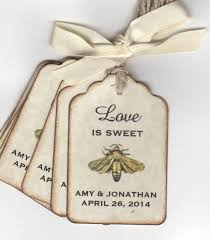wedding favor tags 50 vintage is sweet bee wedding favor tags wedding wish