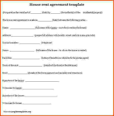 format of rental agreement rental agreement template write a