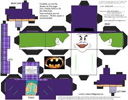 paper toy the joker tdk version paper toys joker and toy