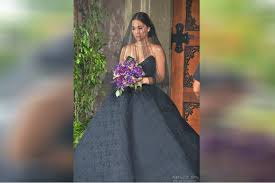 black wedding dress look maja salvador stuns in black wedding gown abs cbn news