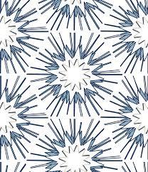 blue white starburst wallpaper fabric hexagon pattern beige navy