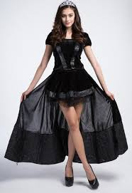 Halloween Costumes Vampires Aliexpress Buy Deluxe Tuxedo Dress Queen Black Queen Witch