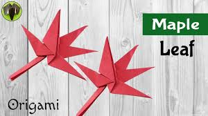 origami tutorial to make maple leaf for thanksgiving diy