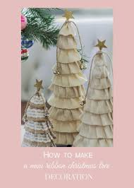 curiositaellya mini ribbon christmas tree decoration diy