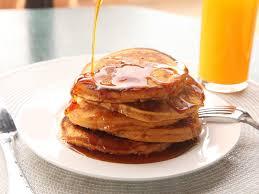 sweet potato pancakes made with leftover mashed sweet potatoes
