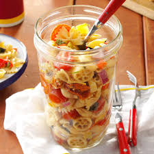 pasta salad in a jar recipe taste of home