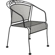 Best Wrought Iron Patio Furniture - do it best wrought iron barrel back stackable chair la st020
