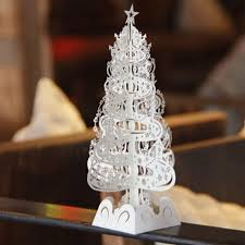 decorated pop up trees lights decoration