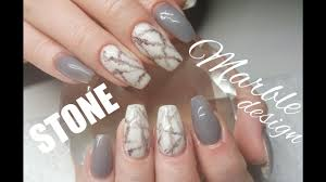 full coloured acrylic stone marble attempt nail design youtube