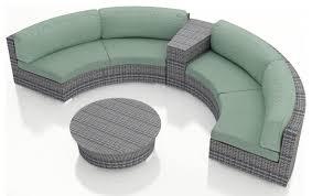 round sofa 2017 luxury design outdoor wicker patio 4 piece half round sofa