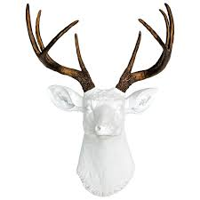 home design any color faux deer skull wall mount bronze amp