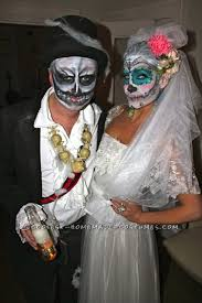 Dia De Los Muertos Costumes Homemade Dia De Los Muertos Couple Costume