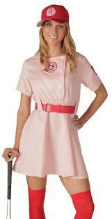 rockford peaches aagpbl pink baseball womens costume dress