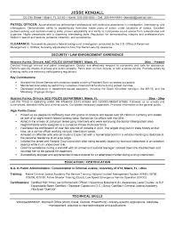 A Sample Of Resume For Job by Security Officer Resume Objective Http Jobresumesample Com 709