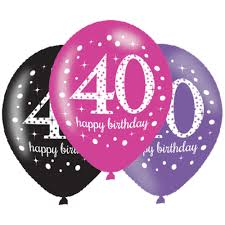 birthday balloons 6 x 40th birthday balloons black pink lilac party decorations age 40