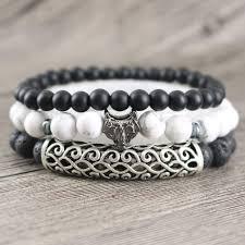 bracelet man onyx images 3 pc calming set of mens howlite black onyx lava stone jpg