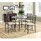 amazon com glass table u0026 chair sets kitchen u0026 dining room