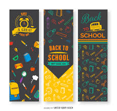 free printable vertical banner template back to school vertical banners vector download