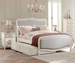 Antique Finish Bedroom Furniture Kensington White Finish Katherine Size Bed With Trundle 20025