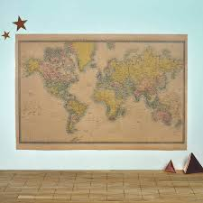 Vintage World Map by World Map Vintage Style Poster By Oakdene Designs