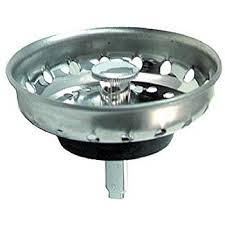 Replacement Fixed Post Sink Strainer Basket Stainless Steel Fit - Kitchen sink stopper replacement