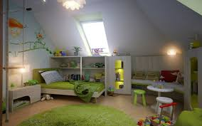 beautiful elegant attic bedroom design interior with grey wall and