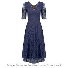 blue lace bridesmaid dresses bespoke lace bridesmaid dresses midnight blue by nancy mac