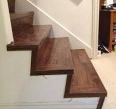great solution wood look vinyl tile on a stair vinyl tiles
