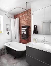 Masculine Bathroom Ideas 20 Masculine Bathroom Ideas With Exposed Brick Walls Decorazilla