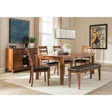 dining room set with bench kona rectangular dining room set w bench intercon