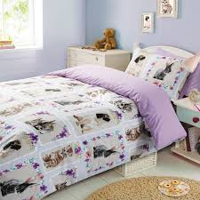 duvet cover with pillowcase bedding set pet love kitten bunny