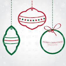 set of three graphic christmas balls vector clipart image 24605