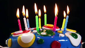 time lapse burning birthday cake candles no sound in file stock