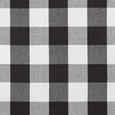 Plaid Curtain Material Black White Cotton Plaid Upholstery Fabric By Popdecorfabrics