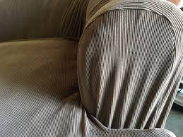 2 Piece T Cushion Sofa Slipcover by Sure Fit Rn 15288 Brown Ribbed Sofa Couch 2 Piece T Cushion