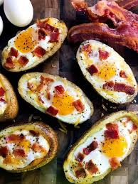 bacon and eggs potato skins three olives branch