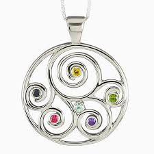grandmother birthstone necklace crafted gift family birthstone pendant in sterling