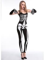 Halloween Costumes Skeleton Woman Titivate 2016 Fashion Brand Women Jumpsuit Halloween Costume