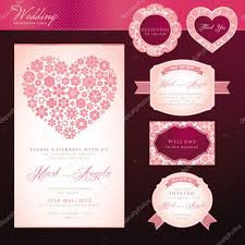 Invitation Card Of Wedding Wedding Invitation Card And Elements U2014 Stock Vector Variant