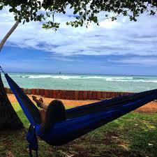 blue u0026 charcoal double travel hammock castaway travel hammocks