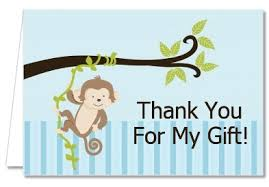 thank you cards baby shower baby shower thank you cards monkey boy thank you notes