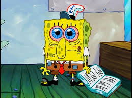 finals week as told by spongebob squarepants her campus